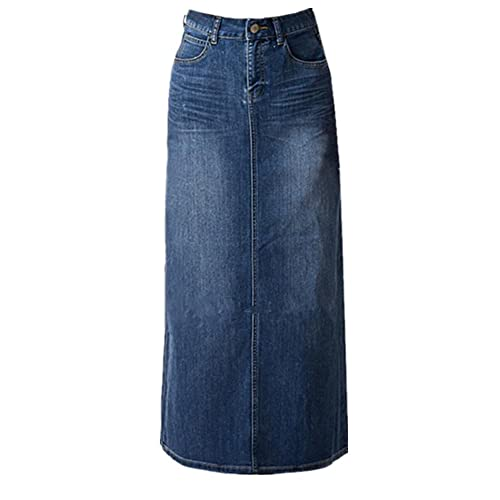 721e04789c Women s Maxi Pencil Jean Skirt- High Waisted A-Line Long Denim Skirts For  Ladies