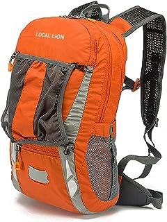 Local Lion Mochila 20L de Ciclismo Montaña Senderismo Macutos Trekking Camping al Aire Libre Nylon con Cubierta de Lluvia para Hombres y Mujeres