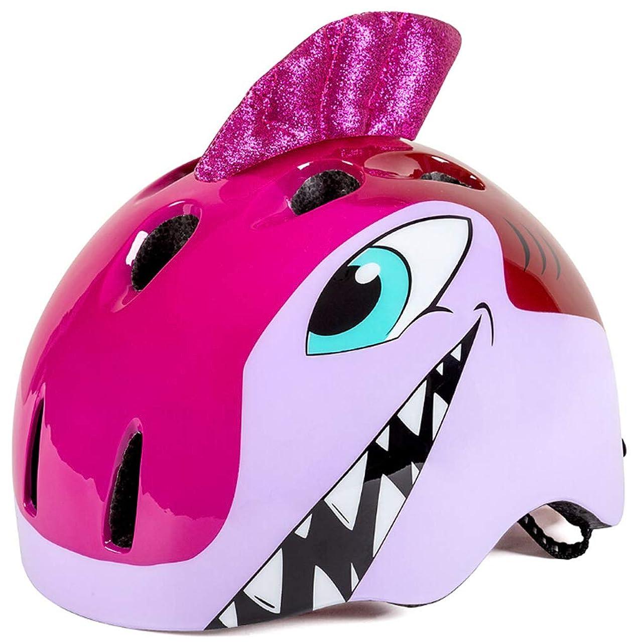 Pretty.auto Kids Helmet Shark Toddler Multi Sports Adjustable Helmet 3D Cartoon Animal Kids Bike Helmets for Girls&Boys