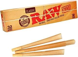 RAW/ロウ CLASSIC King Size Cones コーン型ローリングペーパー 32個入り