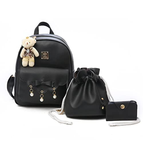 41f520245d46bf Fanshu Cute Mini Backpack for Women Leather with Studs Floral Backpack Purse  for Teenage Girls with
