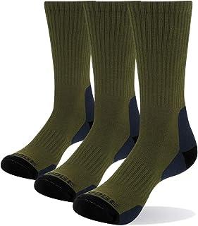 YUEDGE, 3 Pares de Algodón Cushion Crew Calcetines Senderismo Caminar Deportes Atléticos Calcetines para Hombres