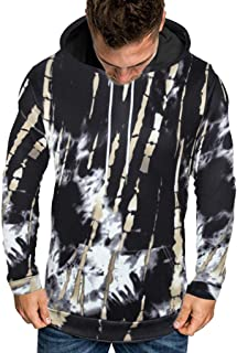 Mens Sweatshirts Colorful Tie-Dyed Halloween Lover 3D Print Party Long Sleeve Hoodie