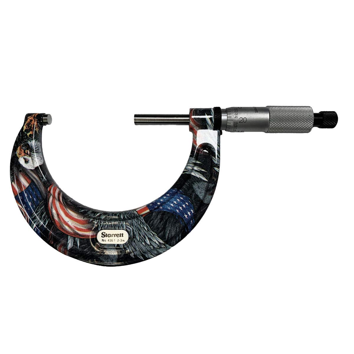0-1 Range.0001 Carbide Anvil-Spindle Camouflage Rachet Thimble Starrett CFT436.1XRL-1 Outside Micrometer