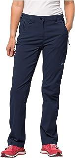 Jack Wolfskin Activate Light Femme Pantalon pour Femme hydrophobe élastique Respirant Coupe-Vent extérieur Softshell Panta...