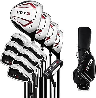 12 Delige Complete Heren Golfclub Set, Complete Beginners Set, Graphite Shaft, Heren, Rechterhand