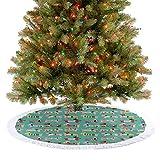 Falda de árbol de Navidad, patrón abstracto de cachorro, con ropa humana, divertido para disfraz, an...
