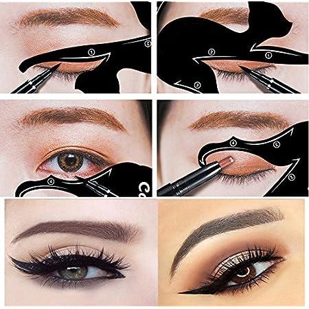 Barhunkft(TM) 2Pcs Cat Line Pro Eye Makeup Tool Eyeliner Stencils Template Shaper Model Beauty