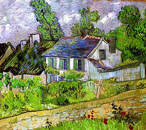 Diy Pintura Diamante Casa De Van Gogh Watts Taladro Completo Kit De Punto De Cruz Diamante Kits De Pintura Para Adultos Rhinestone Bordado Arte 40 * 50Cm