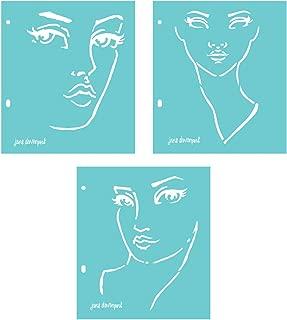 Spellbinders JD-018 Jane Davenport Good Face Stencils, Teal