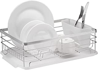 Neat-O Stylish Sturdy Stainless Steel Metal Wire Medium Dish Drainer Drying Rack (Stainless Steel, Chrome)