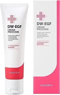 Easydew DW-EGF Cream Pressome 1.69 fl oz - Award-Winning Anti Aging Moisturizing Cream with Human Epidermal Growth Factor - Naturally Produce Collagen to Rejuvenate & Regenerate Cells