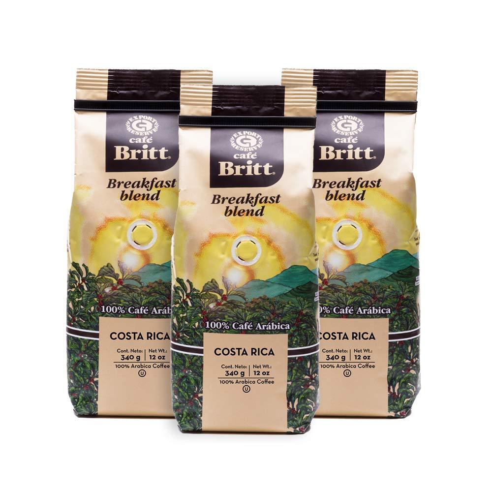 Café Britt® - Ranking TOP16 Costa Rican Manufacturer direct delivery 12 Breakfast oz. Coffee Blend