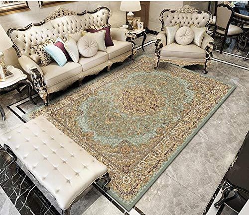 HXJHWB hochflor Shaggy Teppich Design - Schlafzimmer Bett Exquisite Blumenmuster Teppich, hochwertige Kurze Flor mit Rand rutschfest-160CMx200CM