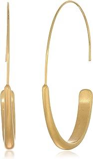 Women's Brushed Hoop Earrings