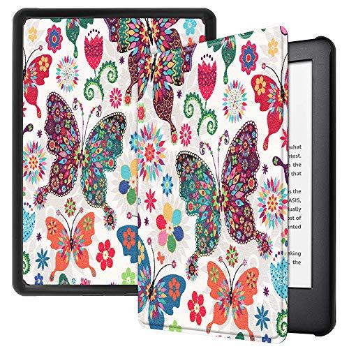 Capa inteligente da Billionn para Amazon Fire Kindle 10ª geração (lançado em 2019) E-Reader 15 cm [Ultrafina] [Ultraleve] [hibernar/despertar automático], borboleta multicolorida