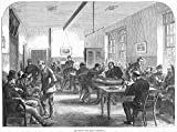 Insane Asylum 1867. /Nday Room For Male Patients At The