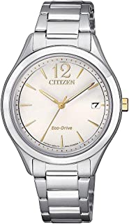 Citizen Women Silver Dial Stainless Steel Band Watch - Fe6124-85A