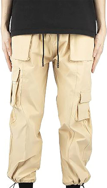Sinzelimin Cargo Pants for Men's Overalls Sport Pants Running Jo