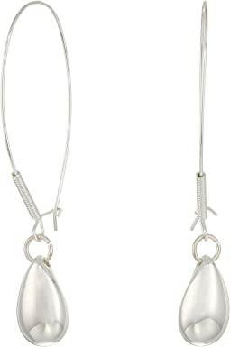 Oval Bead Long Drop Earrings
