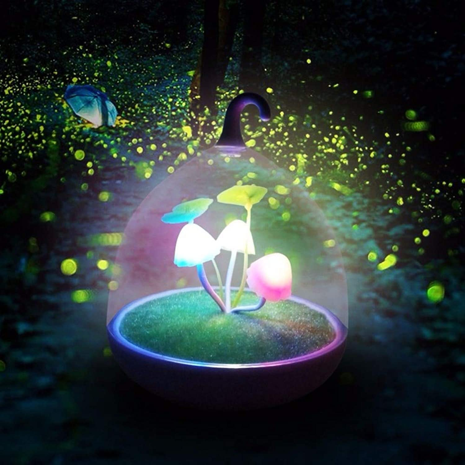 LySanSan  LED Light Toys colorful Mushroom Lamp Glow in The Dark Touch Sensor Night Lamps for Light Up Toys Sleeping Kids Gifts 0.5W