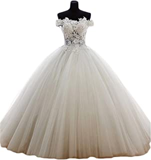 d0d2136bf1c BanZhang Women s Quinceanera Dresses Off The Shoulder Long Eveing Dress for Formal  Ball Gown B183