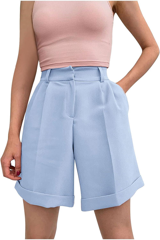 Trust In a popularity Women's Casual Tie Waist Ruffle Hem High Fit Summer Loose