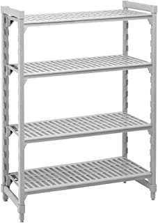 "Cambro Shelving Starter Unit, 48"" x 21"" x 64"", 5 shelves Speckled Gray CPU214864V5-480"