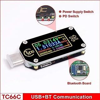 Persondewx - Medidor USB (0,96 Pulgadas, indicador IPS, voltímetro Tipo C, amperímetro, voltímetro, multímetro, Cargador USB, comprobador de batería)