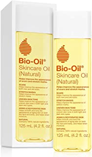 Bio-Oil Skincare Oil (Natural) for Scars and Stretchmarks with Organic Jojoba Oil and Vitamin E, Face and Skin Moisturize...