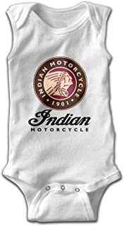 Indian Motorcycle Logo Newborn Infant Toddler Baby Girls Boys Sleeveless Bodysuit Onesies 0-24 Months Black