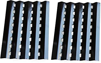 Hongso Porcelain Steel Heat Plate Lowes Model Grills Replacement Parts for Brinkmann 2250, Charmglow 810-2320 Gas Grill Model, 16 3/8 Inch Gas Grill Burner Covers Replacement Part,Set of 2 (PPZ242)