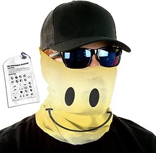 Anonymous Guest Variety Head Scarf Face Mask Magic Scarf Headwear Smiley Face Gold Logo Neck WarmerFace Mask Ski Headband
