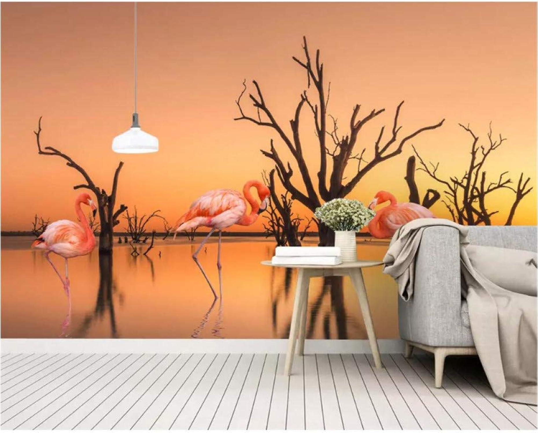 ACYKM Mural 3D Nordic wallpaper sunset lake dead tree TV fondo de la parojo decoración del hogar salón dormitorio wallpaper 3d 200x140cm
