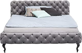 Lit Desire gris argenté 180x200cm Kare Design