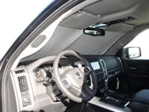 The Original Windshield Sun Shade, Custom-Fit for Ram 1500 Truck (Crew Cab) 2010-2019, Silver Series