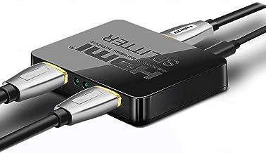 SENGKOB 4K HDMI Splitter 1x2, Ultra Thin 1 Input 2 Output HDMI Switcher Box Support 4K@30Hz, 1080p@60Hz, 3D, 2160p for PS...