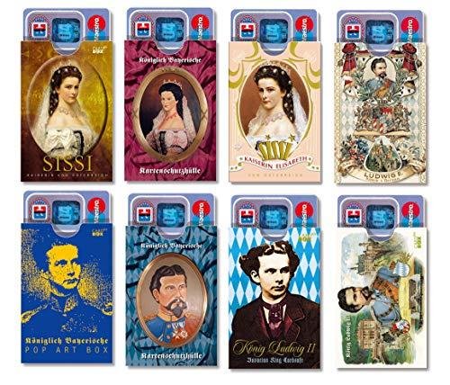 cardbox Bayern Set /// Motive: König Ludwig/Sissi (Sisi/Kaiserin Elisabeth) /// 8er Set /// Kartenhüllen für alle Bayernfans