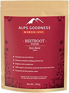 Alps Goodness Beetroot Powder for Skin & Hair (250 g) - Helps Brighten Skin and Nourishes Hair Follicles & Scalp - 100% Pu...