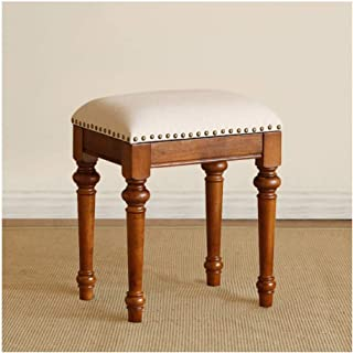 Chair Stool Vintage Retro Dressing Table Stool Padded Chair Makeup Piano Seat (Color : C),Colour:C (Color : C)