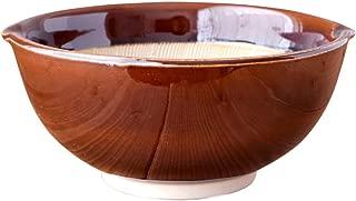 minoruba(ミノルバ)すり鉢(小) 波紋 17.5cm ボウル 和食器 鉢 (アメ, 616)