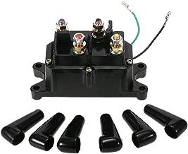 KKmoon 12V Solenoid Relay Contactor Winch Rocker Switch Thumb for ATV UTV Universal Kit