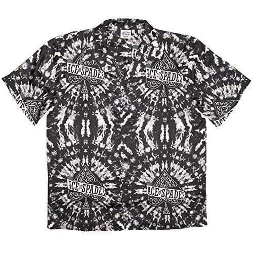 SSS WORLD CORP Ace van Spades Motorhead Tie Dye Hawaiian Shirt