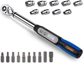Summit Tools 3/8 inch Digital Torque Wrench 2.2-62.7 ft-lbs Torque Range, Socket Set, Measure Peak Torque, Calibrated (DPS3-085CN-S)