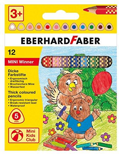 Eberhard Faber 518812 - Buntstift Mini Winner, 12-er im Kartonetui