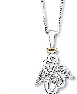 jane seymour open heart angel necklace