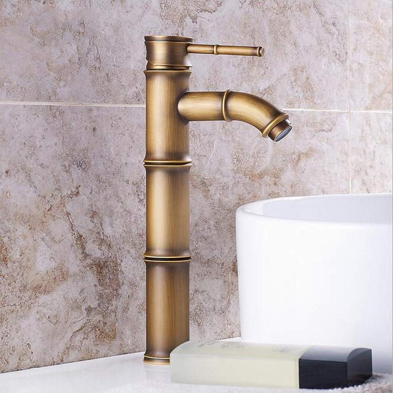 MICHEN Bathroom Sink Faucet - Pre Rinse Rain Shower Widespread Antique Copper Centerset Single Handle Two Holes,B