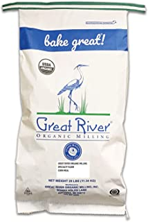 Great River Organic Milling, Specialty Flour, Corn Meal, Stone Ground, Organic, Non-GMO, 25-Pounds (Pack of 1)