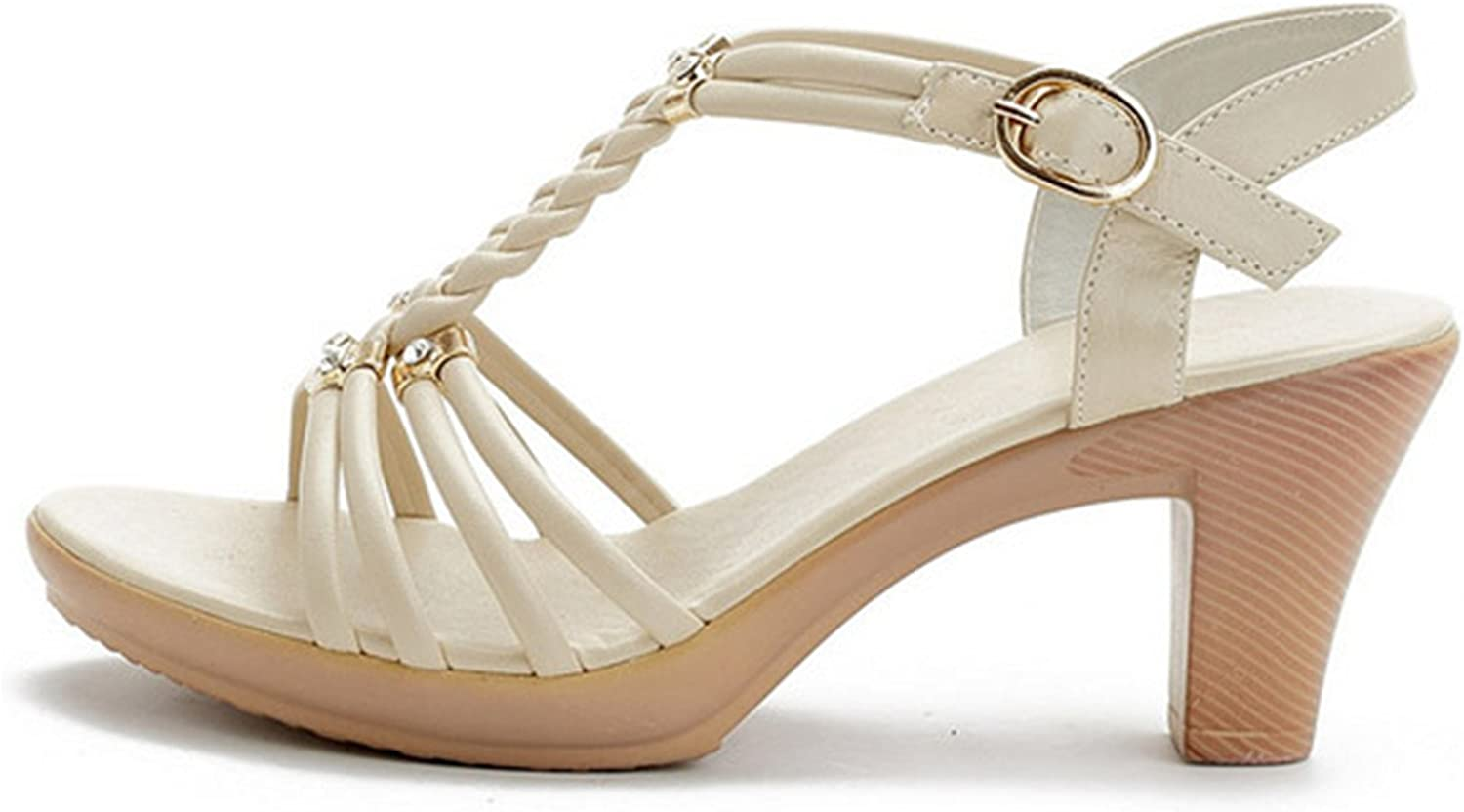 Karl Conner Genuine Leather High Heels Sandals for Women Fashion Summer shoes