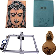 Laser Engraver Machine DIY CNC Laser Engraver Kits Wood Carving Engraving Cutting Machine Desktop Printer Logo Picture Marking, 40x50cm,2 Axis